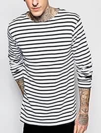 Armor Lux Long Sleeve T-shirt In Breton Stripe
