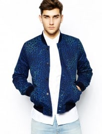 Paul Smith Jeans Bomber Jacket In Animal Print