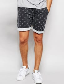 Asos Skinny Chino Shorts With Mini Dot Print