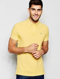 Abercrombie & Fitch Polo Shirt Core In Slim Muscle Fit In Yellow