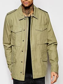 Asos Military M65 Jacket In Khaki