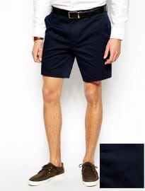 Asos Skinny Fit Shorts In Cotton Sateen