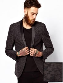 Asos Slim Fit Blazer In Leopard Design