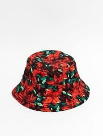 New Era Bucket Hat With Orchid Print