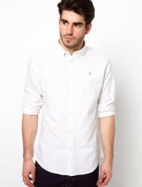 Farah Vintage Oxford Shirt With Button Down Collar