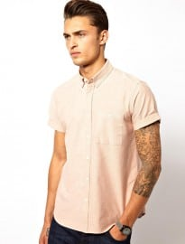 Asos Oxford Shirt In Short Sleeve