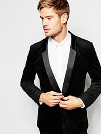 Selected Homme Velvet Dinner Blazer In Slim Fit