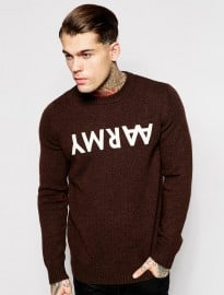 Wood Wood Jumper Double Aa Army