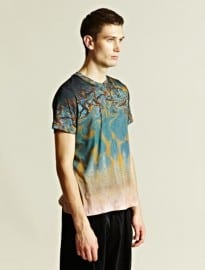 James Long Mens Marble Print Tee