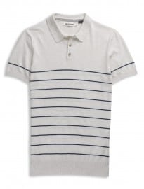 Ben Sherman Breton Stripe Knitted Polo