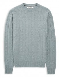 Ben Sherman Blue Cable Knit Jumper