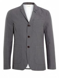 Universal Works Grey Houndstooth Cotton Drayton Blazer
