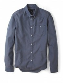 Marc By Marc Jacobs Steel Blue Contrast Button Shirt