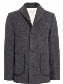 Folk Grey Wool Shawl Blakey Coat