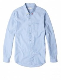 Folk Chambray 3 Button Collar Shirt