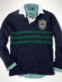 Polo Ralph Lauren Custom-fit Crest Stripe Rugby