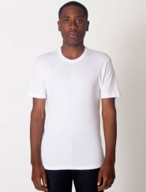 American Apparel Baby Rib Fitted Short Sleeve T-shirt