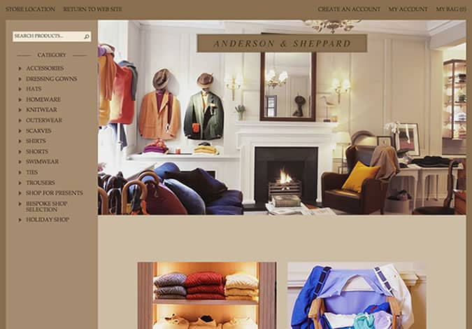 Anderson & Sheppard Launches Online Store