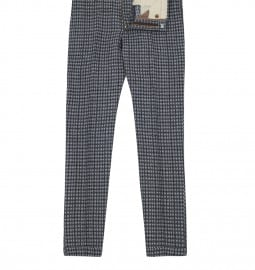 Paul Smith Mainline Navy Patterned Linen-blend Trousers
