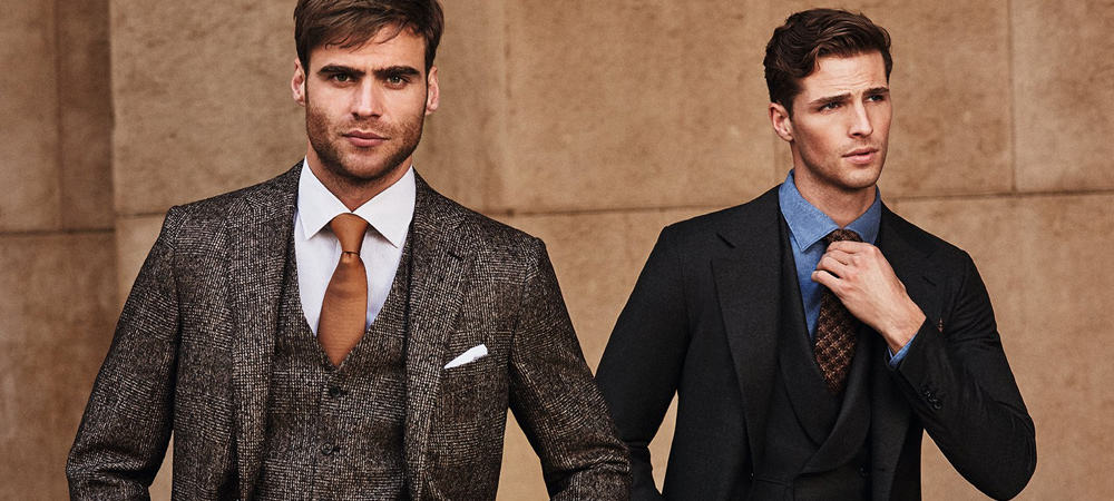 Color suit combinations shirt and Brown Suit